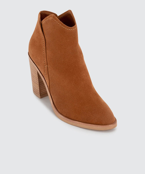 SHEP WIDE BOOTIES IN BROWN -   Dolce Vita