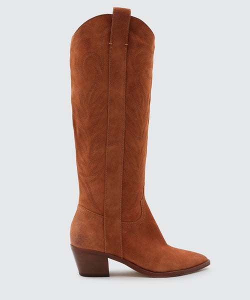 SOLEI BOOTS IN BROWN -   Dolce Vita
