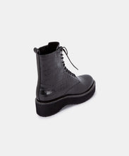 VELA BOOTS IN NOIR CROCO PRINT LEATHER -   Dolce Vita