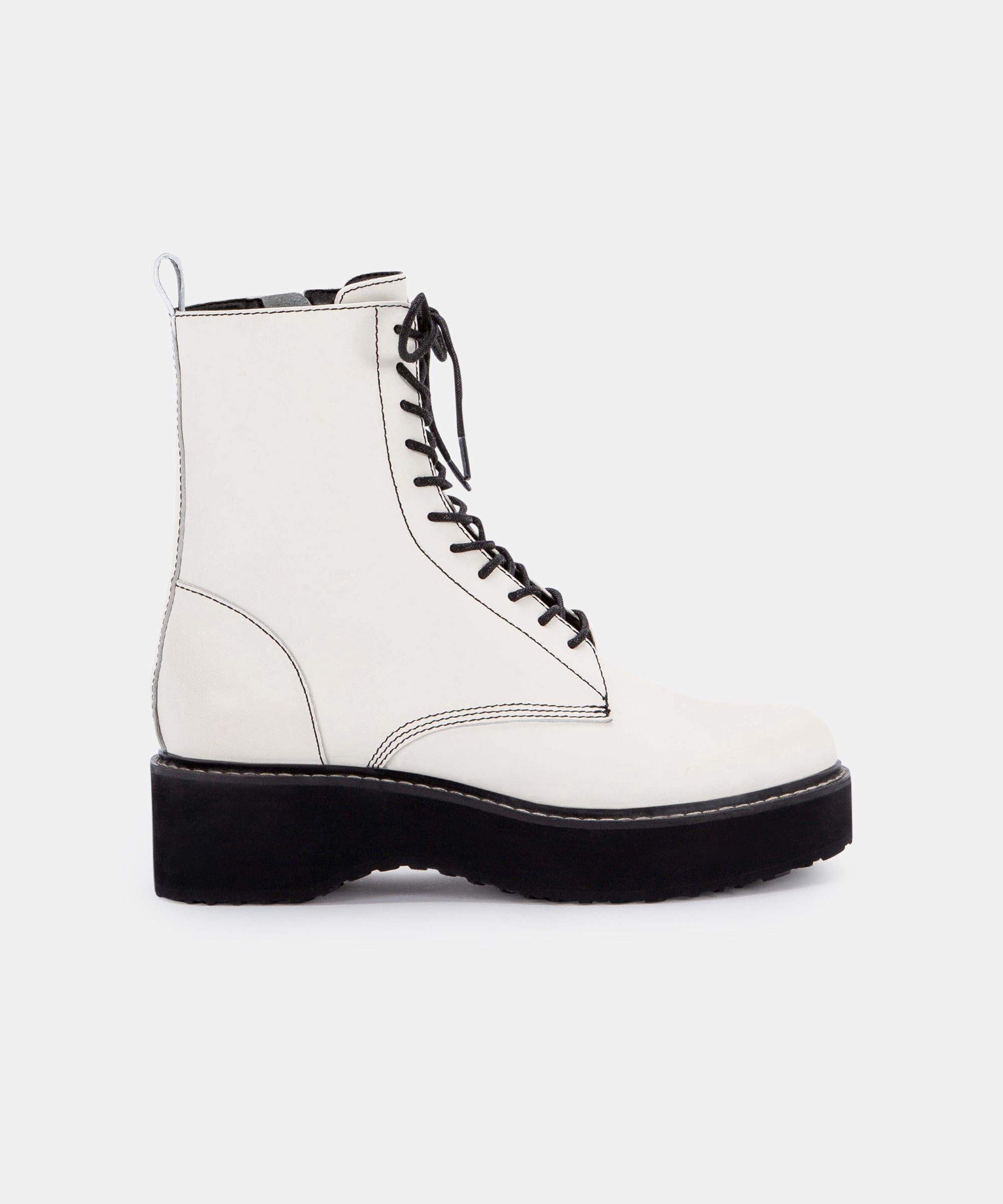 VELA BOOTS IN OFF WHITE LEATHER – Dolce