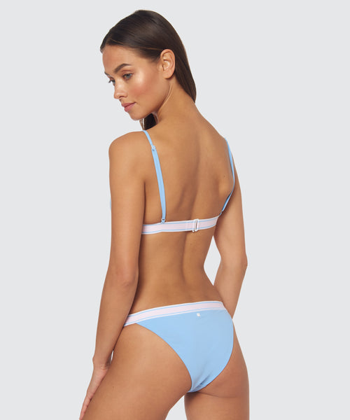 FAST LANE BANDED BOTTOM IN BLUE -   Dolce Vita