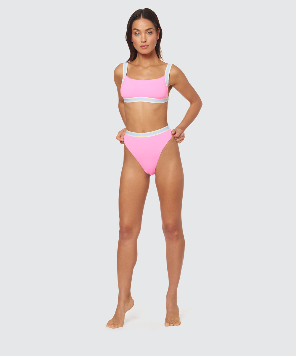 8f538ce59e FAST LANE HIGH WAIST JOGGER BOTTOM IN HOT PINK