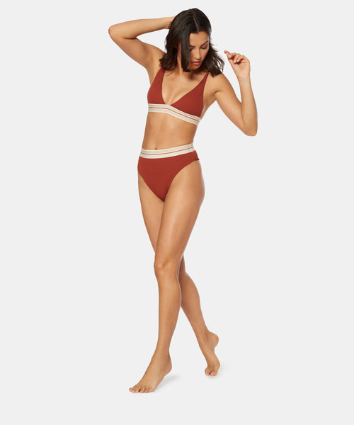 FAST LANE HIGH WAIST JOGGER BOTTOM IN CINNAMON -   Dolce Vita