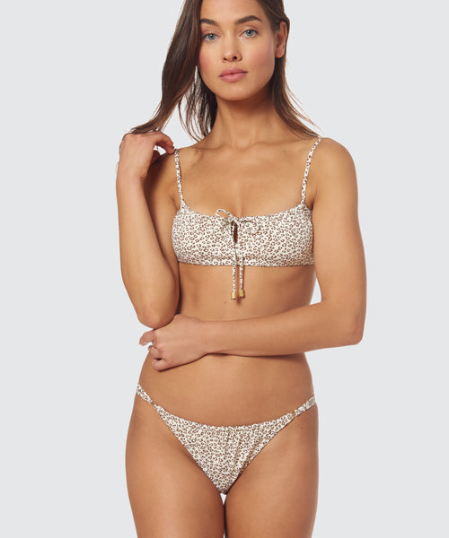 MICRO CHEETAH RUCHED STRING BOTTOM IN CHEETAH -   Dolce Vita