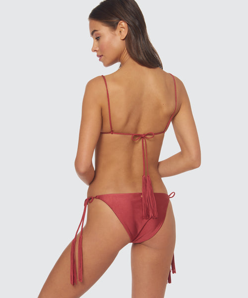 TRAIL BLAZER BRAIDED TIE BOTTOM IN DESERT ROSE -   Dolce Vita