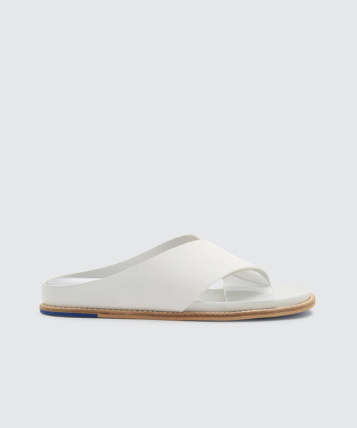 GRIFF SANDALS WHITE -   Dolce Vita