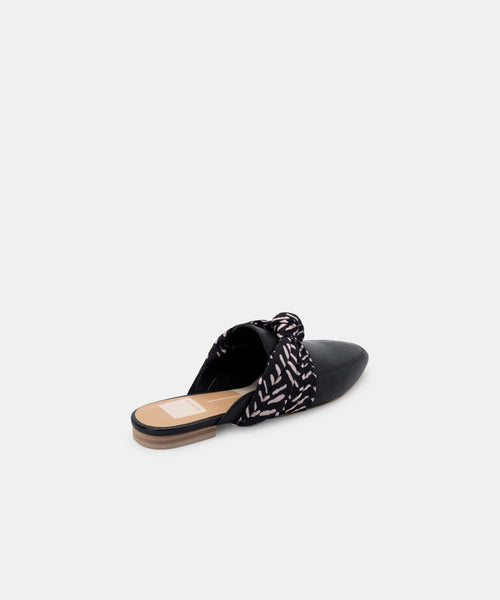 HYLDA FLATS IN BLACK LEATHER -   Dolce Vita