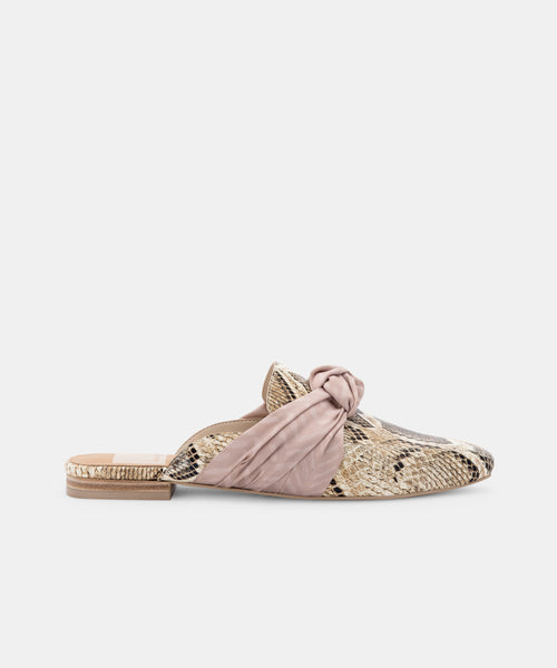 HYLDA FLATS IN DESERT SNAKE PRINT LEATHER -   Dolce Vita
