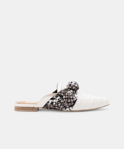 HYLDA FLATS IN IVORY CROCO PRINT LEATHER -   Dolce Vita