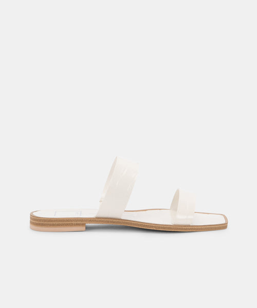 ISAAC SANDALS WHITE -   Dolce Vita