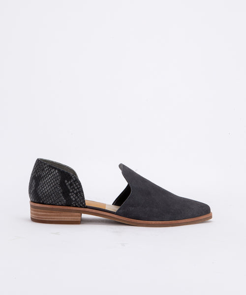 KELSA FLATS IN ANTHRACITE SUEDE -   Dolce Vita