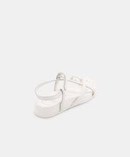 RHYAN SANDALS IN WHITE EMBOSSED LIZARD -   Dolce Vita