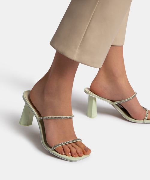 NAYLIN HEELS IN MINT LEATHER -   Dolce Vita