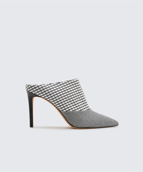 CINDA HEELS IN BLACK/WHITE -   Dolce Vita