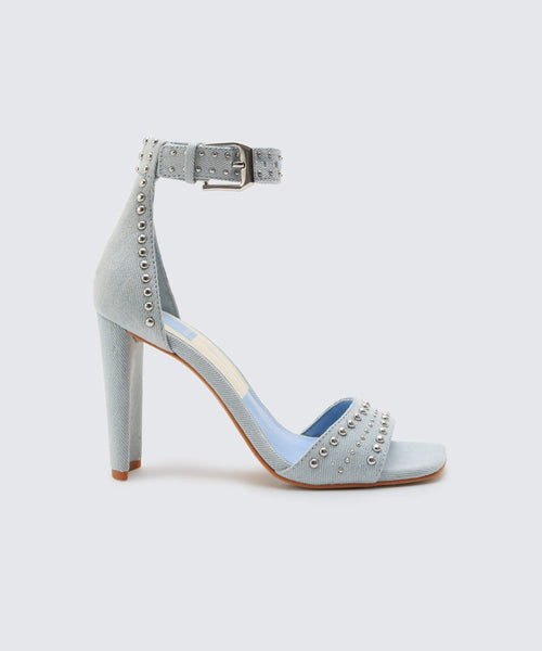 ELOISE HEELS IN LIGHT DENIM -   Dolce Vita