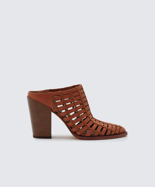 KACIE MULES IN BROWN -   Dolce Vita