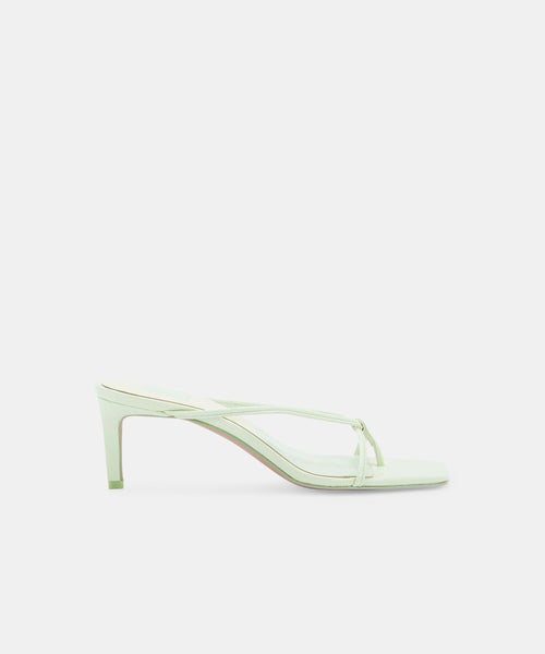 KAYDEN HEELS IN MINT LEATHER -   Dolce Vita