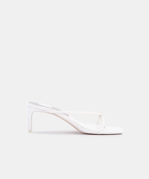 KAYDEN HEELS IN WHITE LEATHER -   Dolce Vita