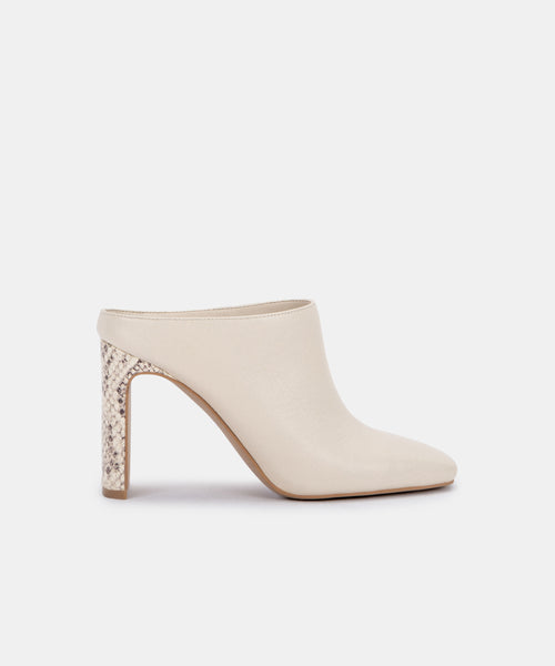 KIRRA MULES IN IVORY LEATHER -   Dolce Vita