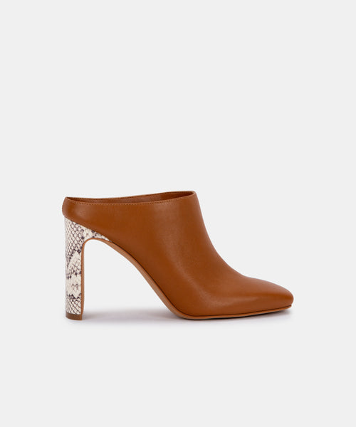 KIRRA MULES IN LT LUGGAGE LEATHER -   Dolce Vita