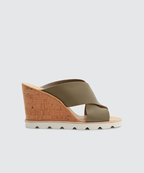 LIDA WEDGES IN KHAKI -   Dolce Vita