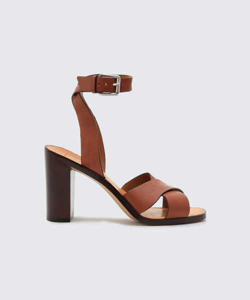 NALA HEELS IN BROWN -   Dolce Vita