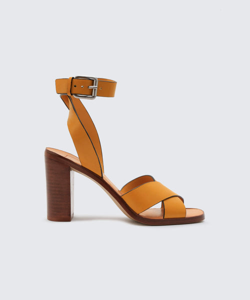 NALA HEELS IN HONEY -   Dolce Vita