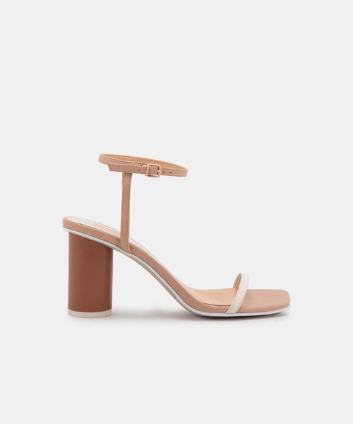 NAOMEY HEELS IN NUDE MULTI LEATHER -   Dolce Vita