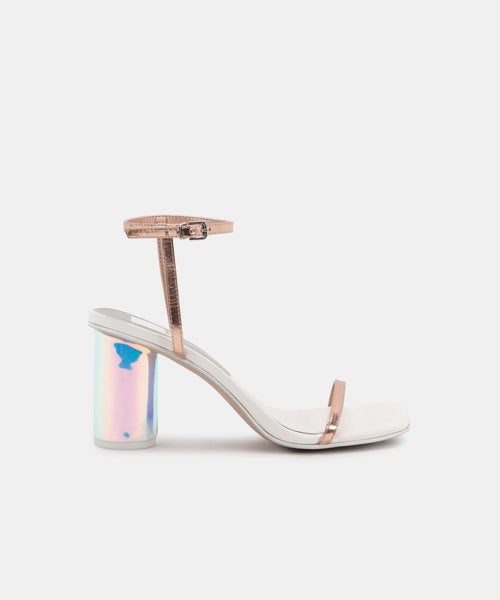 NAOMEY HEELS IN ROSE GOLD LEATHER -   Dolce Vita