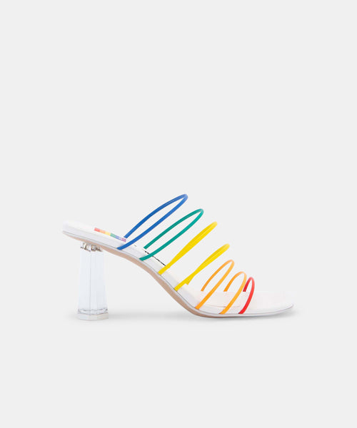 NICKI SANDALS IN RAINBOW LEATHER -   Dolce Vita