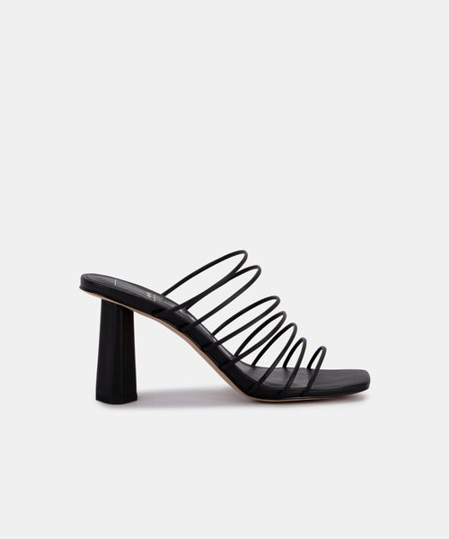 NICKI HEELS IN BLACK ECO STELLA -   Dolce Vita
