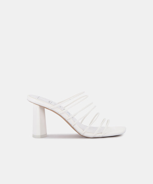 NICKI HEELS IN WHITE ECO STELLA -   Dolce Vita