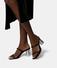 NOLES DISCO HEELS IN BLACK LEATHER -   Dolce Vita