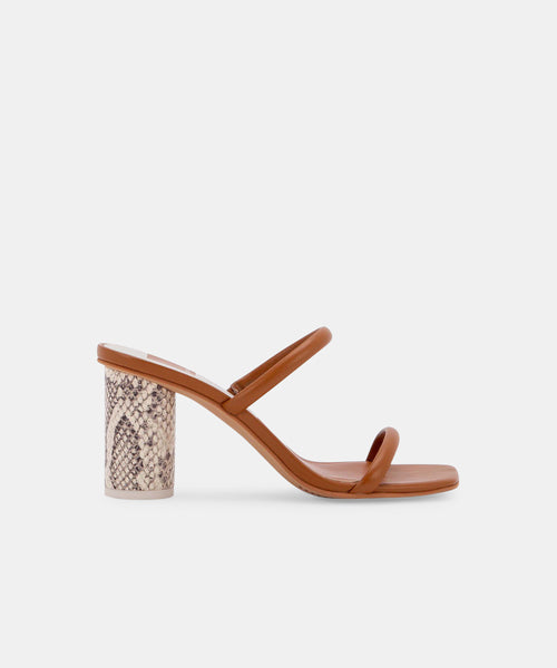 NOLES HEELS IN LT LUGGAGE LEATHER -   Dolce Vita