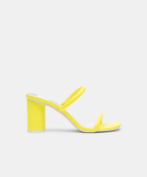 NOLES HEELS IN NEON YELLOW -   Dolce Vita