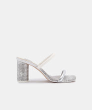 NOLES HEELS IN PEWTER EMBOSSED LIZARD -   Dolce Vita