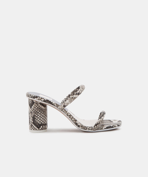 NOLES WIDE HEELS IN SHADOW SNAKE -   Dolce Vita