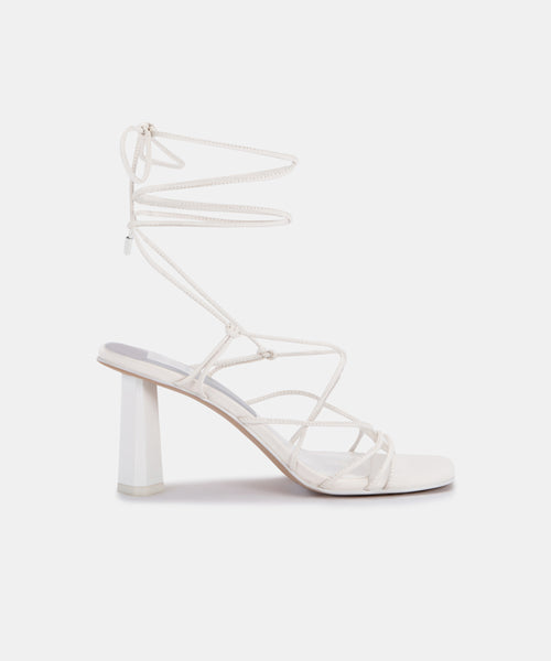 NORINA HEELS IN WHITE LEATHER -   Dolce Vita