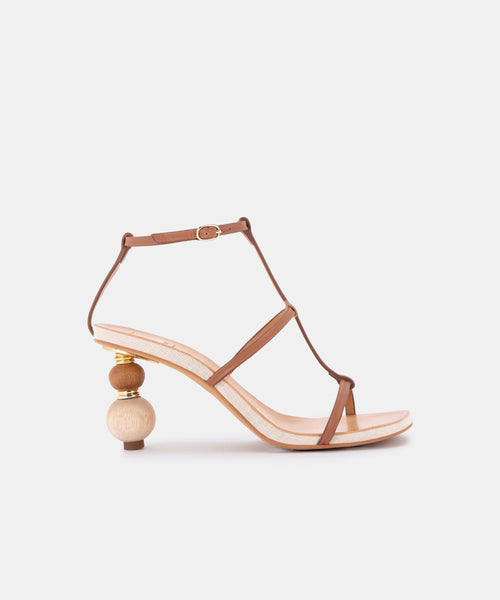 OLIVYA HEELS IN MOCHA LEATHER -   Dolce Vita