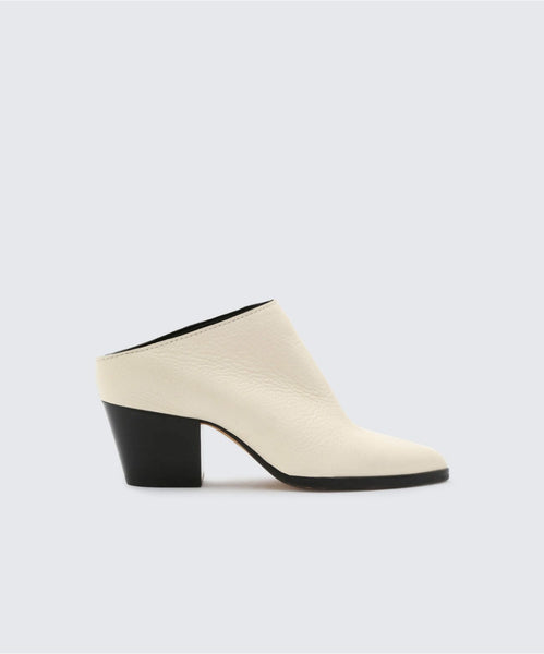 ROYA MULES IN OFF WHITE -   Dolce Vita