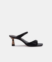 TANIKA HEELS IN BLACK LEATHER -   Dolce Vita