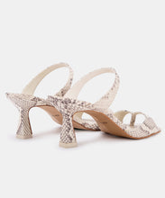 TANIKA HEELS IN BONE SNAKE PRINT LEATHER -   Dolce Vita