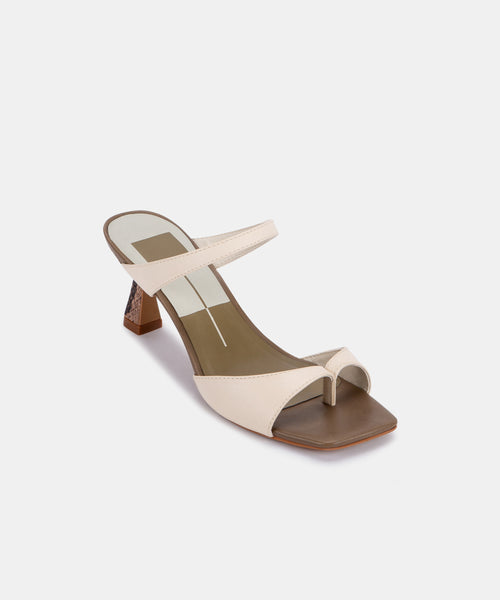 TANIKA HEELS IN WHITE MULTI LEATHER -   Dolce Vita