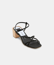 ZAYLA HEELS IN BLACK LEATHER -   Dolce Vita