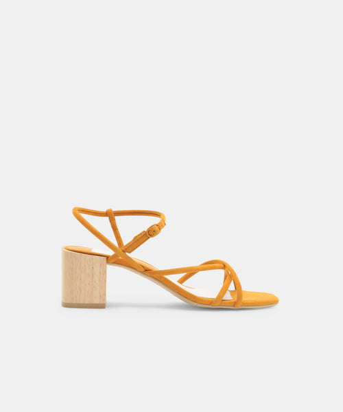 ZAYLA HEELS IN HONEY -   Dolce Vita