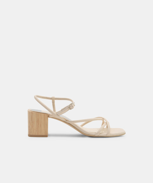 ZAYLA HEELS IN IVORY LEATHER -   Dolce Vita