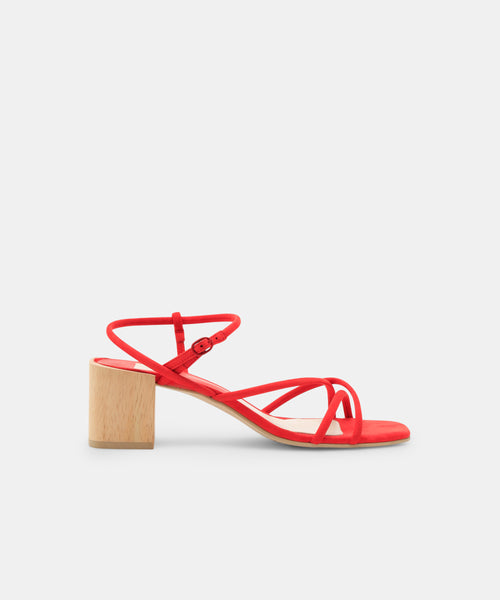 ZAYLA HEELS IN RED -   Dolce Vita