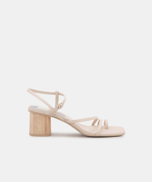 ZYDA HEELS IN IVORY LEATHER -   Dolce Vita