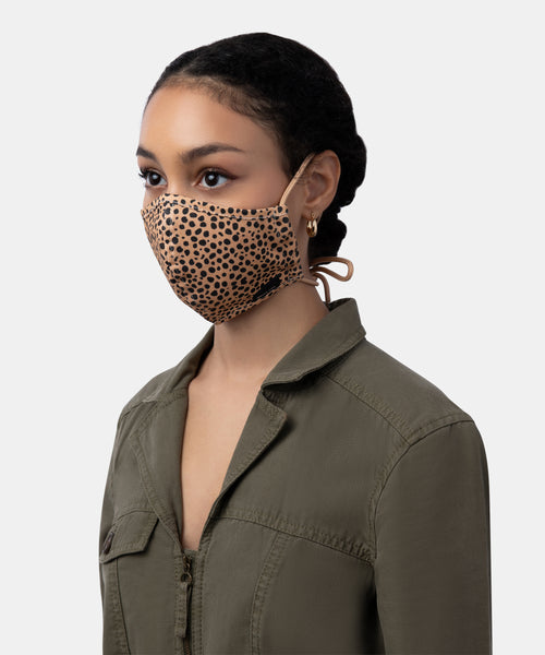 FACE COVERING IN LEOPARD FABRIC -   Dolce Vita