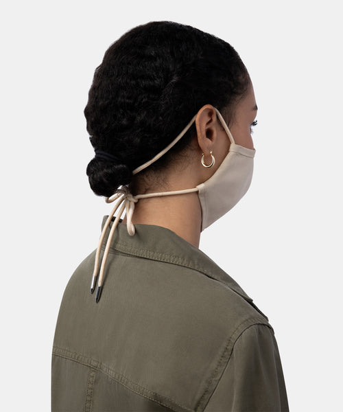 FACE COVERING IN NATURAL FABRIC -   Dolce Vita